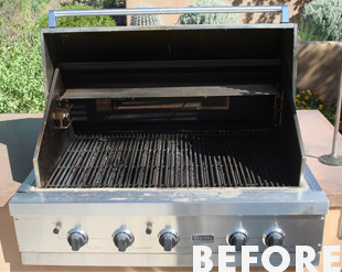 Grill Cleaning Before 02