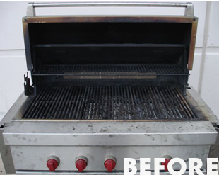 how to clean a bbq before use