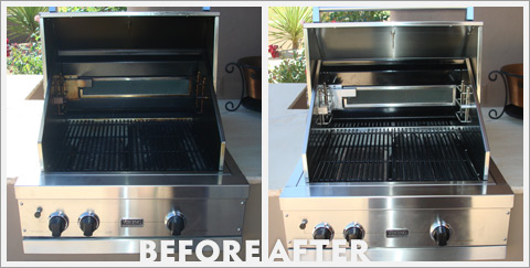 Grill Cleaning Before and After 12