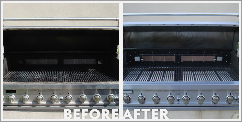 Grill Cleaning Before and After 17