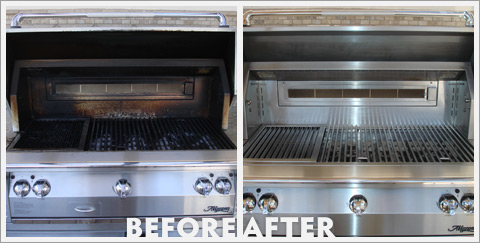 Grill Cleaning Before and After 18