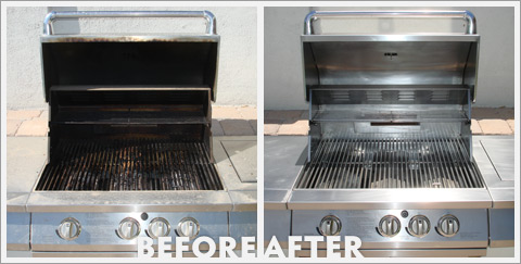Grill Cleaning Before and After 21