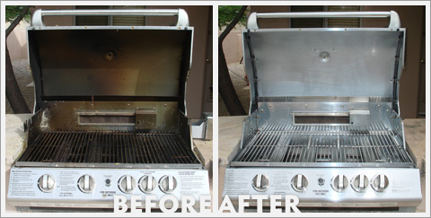 Grill Cleaning Before and After 22