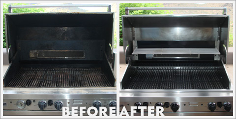Grill Cleaning Before and After 23