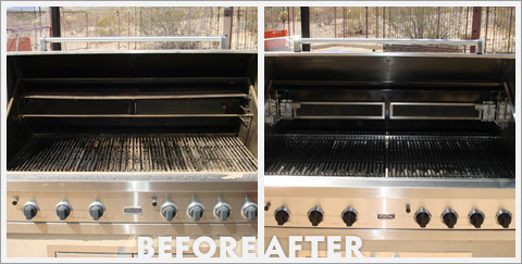Grill Cleaning Before and After 27