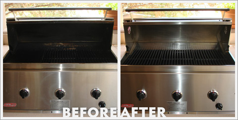 Grill Cleaning Before and After 29