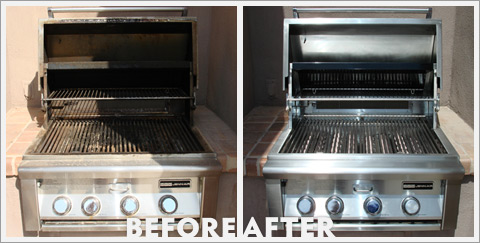 Grill Cleaning Before and After 30