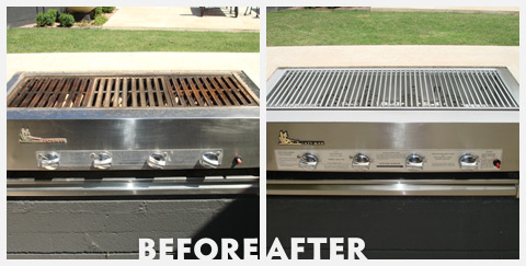 Grill Cleaning Before and After 31