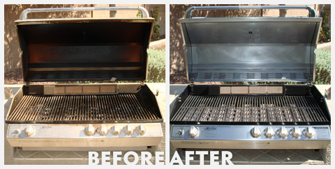 Grill Cleaning Before and After 34