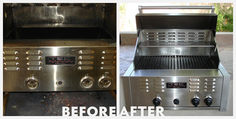 Grill Cleaning Before and After 36