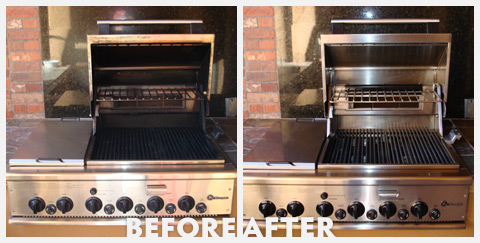 Grill Cleaning Before and After 37