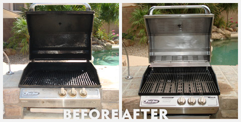 Grill Cleaning Before and After 38