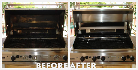 Grill Cleaning Before and After 39