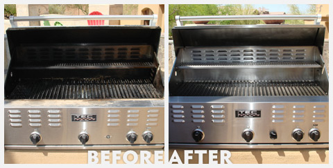Grill Cleaning Before and After 40