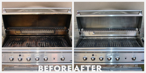 Grill Cleaning Before and After 41