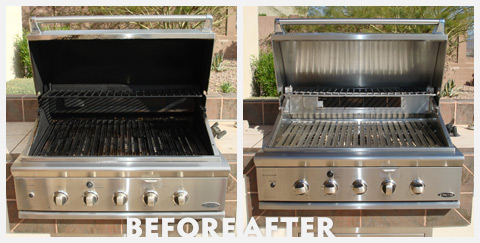 Grill Cleaning Before and After 42